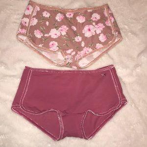 Pink VS low rise boyshorts